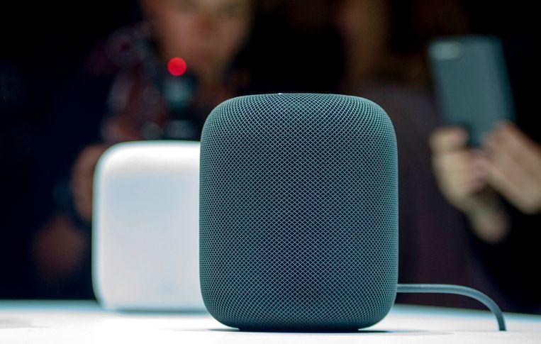 Apples HomePod-luidspreker. Beeld AFP