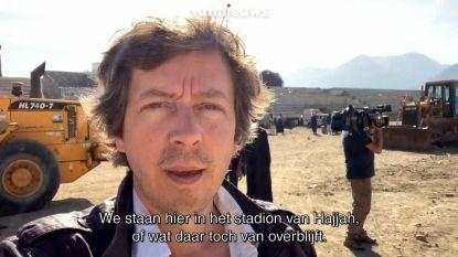 VIDEO. Jemenieten zoeken naar onderdak in verlaten stadion