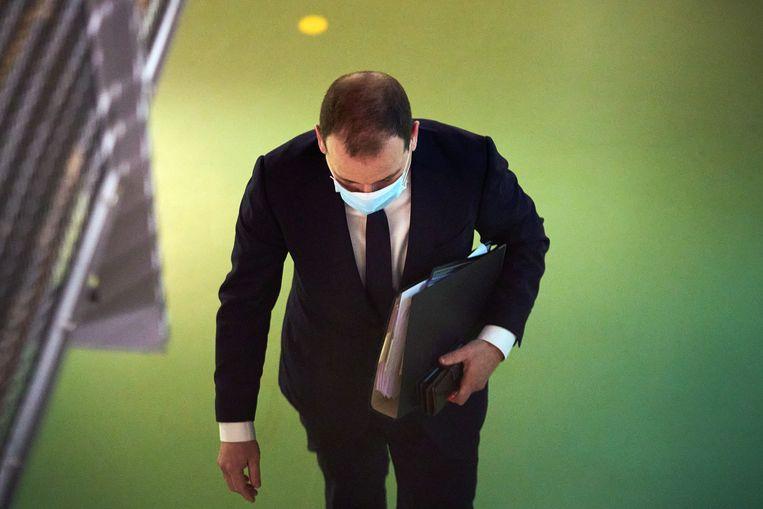 Lodewijk Asscher, minister van sociale zaken en werkgelegenheid van 2012 tot 2017 wordt gehoord door de parlementaire enquetecommissie Kinderopvangtoeslag  Beeld Hollandse Hoogte /  ANP