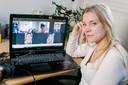 Melanie Pieper (23) baalt inmiddels van het continue online onderwijs. Ze gaat pas na de zomer aan haar master beginnen in de hoop dat het dan beter is.