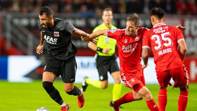 AZ komt zwakke start bij compact FC Twente niet te boven en gaat voor derde keer op rij onderuit