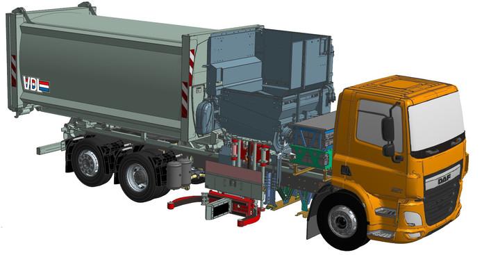 VDL ontwikkelt onder meer een elektrische zijlader voor mini-containers.