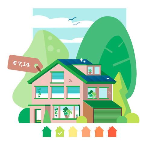 Dankzij zonnepanelen en vier maanden buitenland valt de energierekening erg mee, maar er wordt in huis nog wel gas en petroleum verbruikt.