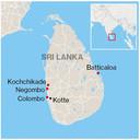 Locaties aanslagen sri lanka