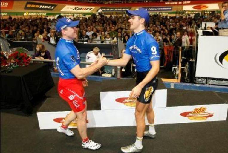 Kenny De Ketele (r) staat voorlopig vijfde in Zürich. Beeld UNKNOWN