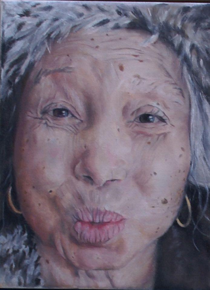 Geportretteerde dame uit het project van Daisy Karthaus.