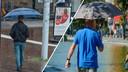 31 juli 2021 (links) versus 2020: de paraplu biedt bescherming tegen totaal ander weer.