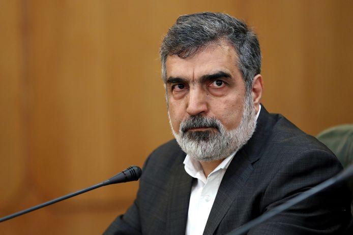 Behrouz Kamalvandi, woordvoerder van de Iraanse Organisatie voor Atoomenergie