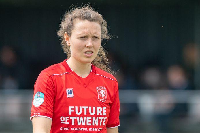 Fenna Kalma, hier op archieffoto, scoorde in de laatste wedstrijd van het seizoen voor FC Twente Vrouwen, maar het was niet genoeg om een nederlaag te voorkomen.