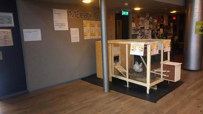 2016 Jip de Kip in de aula van de Amsterdamse Theaterschool
