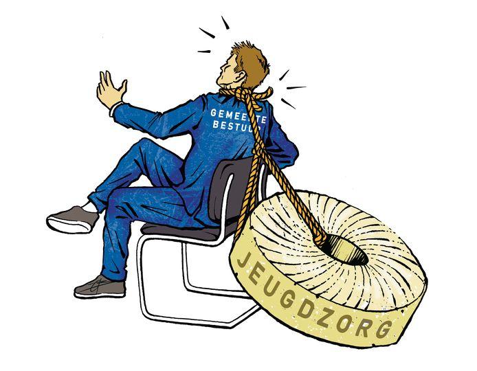 Voor de meerderheid van de Nederlandse gemeenten hangen de jeugdzorguitgaven als een molensteen om de nek.