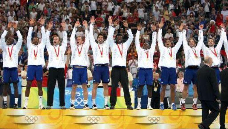 Het laatste goud op deze Spelen was voor de Franse handballers. Beeld UNKNOWN