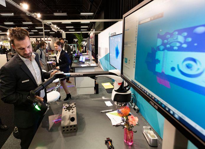 Beeld van de Rapid Pro 3D print beurs, in maart van dit jaar nog gehouden in Veldhoven.