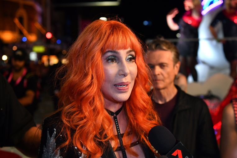 Cher tijdens de Sydney Gay and Lesbian Mardi Gras parade Beeld EPA