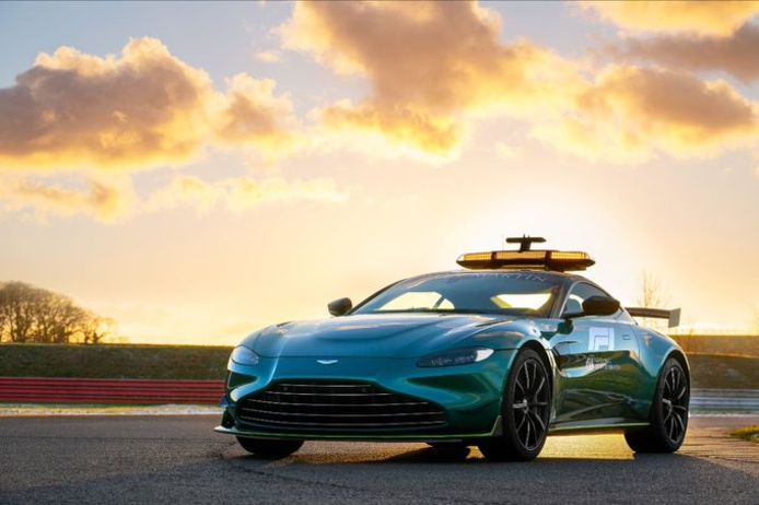 Aston Martin keert ook als safetycar terug in de Formule 1.