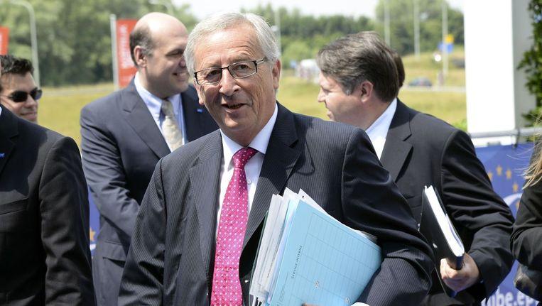 De Luxemburgse ex-premier Jean Claude Juncker wordt morgen voordragen als nieuwe voorzitter van de Europese Commissie. Beeld afp