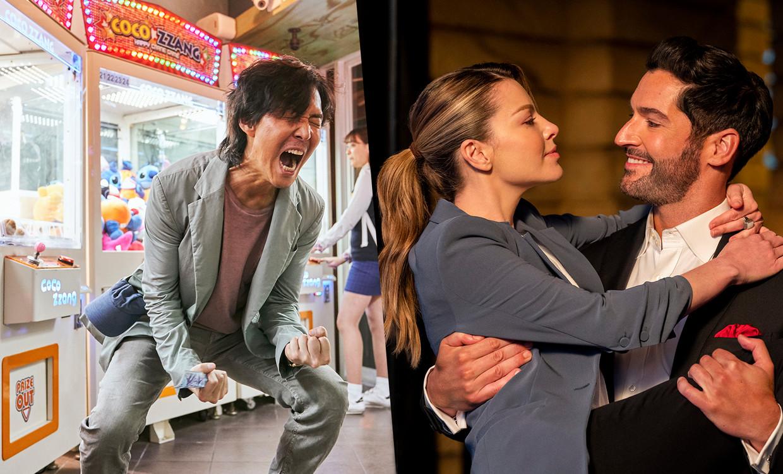 'Squid Game' en 'Lucifer' Beeld Netflix