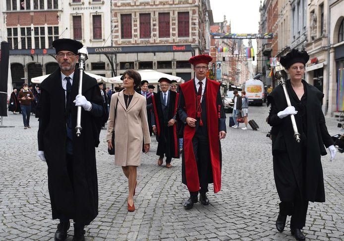 Opening Academiejaar in Leuven, met rector Luc Sels.