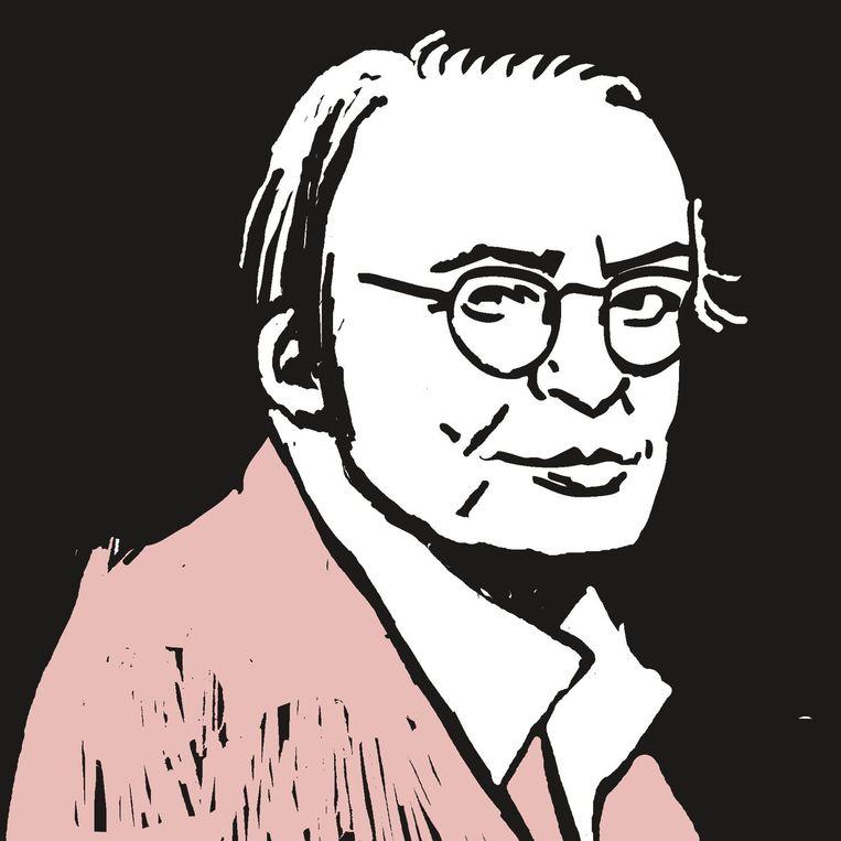 Meerdere illustratoren portretteerden Remco Campert voor Sir Edmund, waarin hij een wekelijkse column had. Beeld Floor Rieder