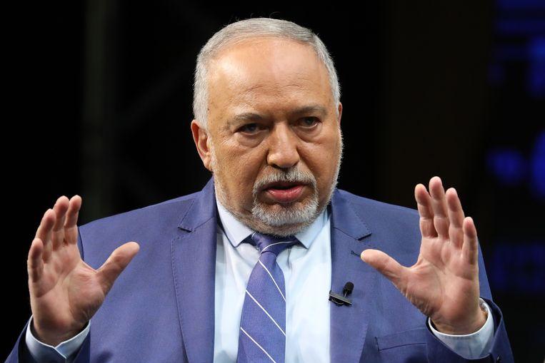 Avigdor Lieberman, leider van de rechts nationalistische partij Ons Huis.  Beeld EPA