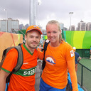 Humphry in Brazilië met Kiki Bertens, die vannacht in Tokio afzwaaide en haar laatste tenniswedstrijd speelde.