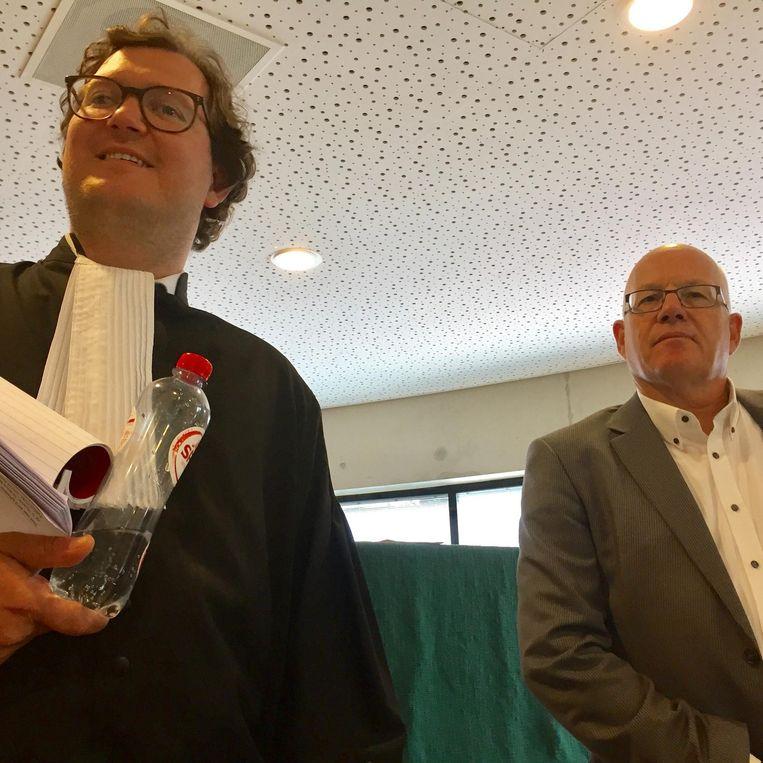 Onze advocaat Maliepaard en voorzitter Flipse. Beeld