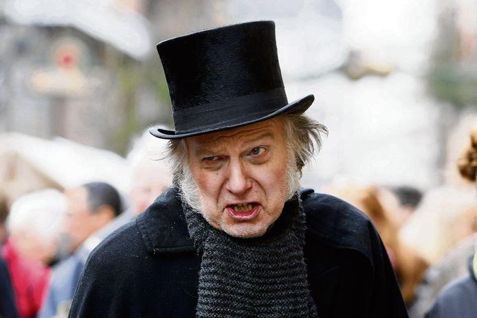 Foto Scrooge ter illustratie.