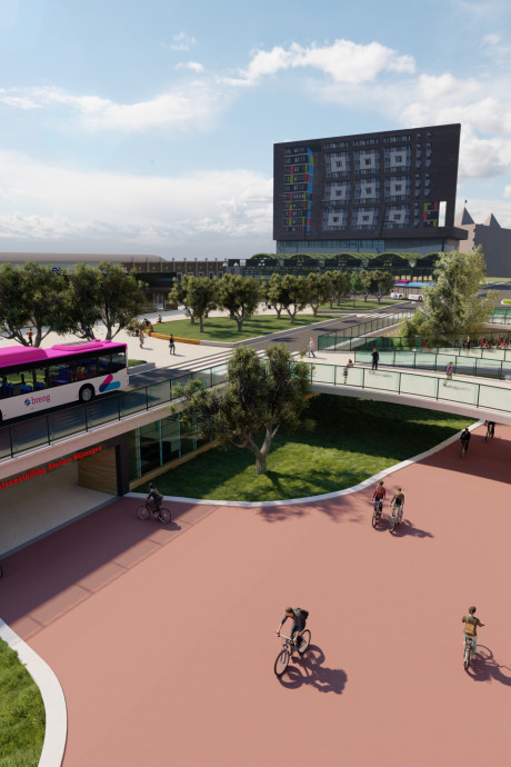 Zo ziet het stationsplein van Nijmegen er straks uit