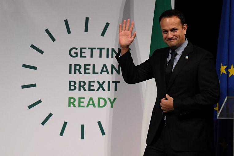 De Ierse premier Leo Varadkar waarschuwt voor stroeve Brits-Ierse relatie als gevolg van discussies over de Ierse grens in verband met Brexit.
