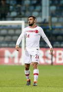 Ömer Bayram maakt zijn debuut voor Turkije tegen Montenegro op 27 maart 2018.