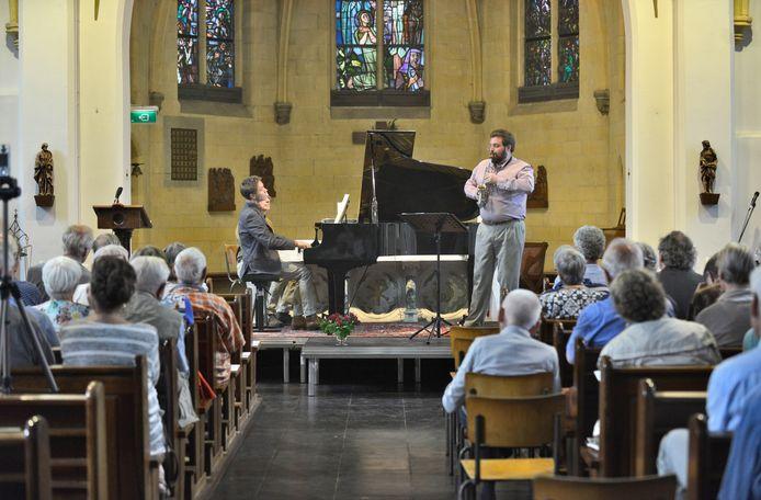 Kamermuziek in de kerk van Mook vorig jaar.