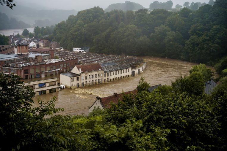 Pepinster werd vorige week zwaar getroffen door de overstromingen. Beeld Eric de Mildt