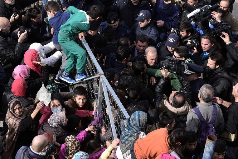 Het Hellinikon kamp in Griekenland. Beeld AFP