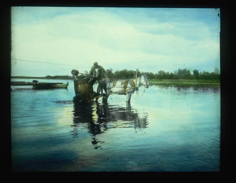 De Wolga, begin 20ste eeuw Beeld Corbis via Getty Images