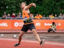 Speerwerper Tom Egbers verovert brons op NK