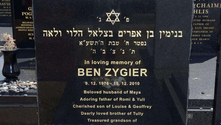 Grafsteen van Gevangene X, geïdentificeerd als Ben Zygier Beeld AFP