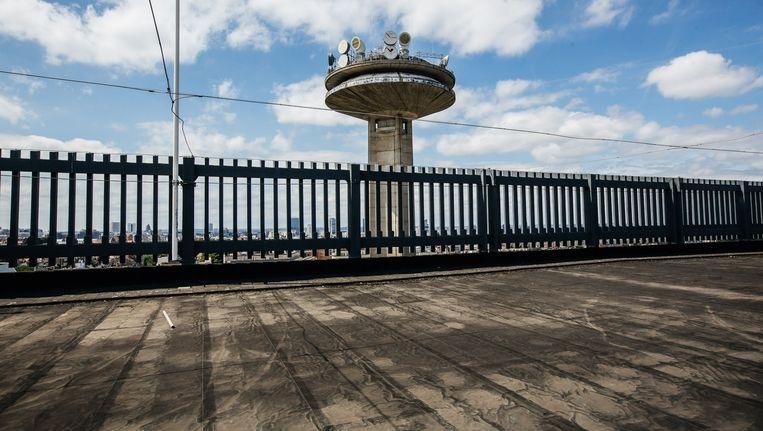 De VRT-toren. Beeld Wouter Van Vooren