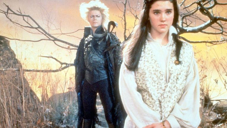 David Bowie en Jennifer Connelly in Labyrinth. Beeld anp