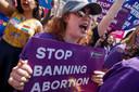 De strenge abortuswet lokte onder andere in Washington fel protest uit.