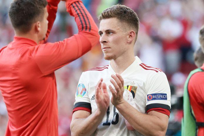 Thorgan Hazard is er niet bij tegen Finland.