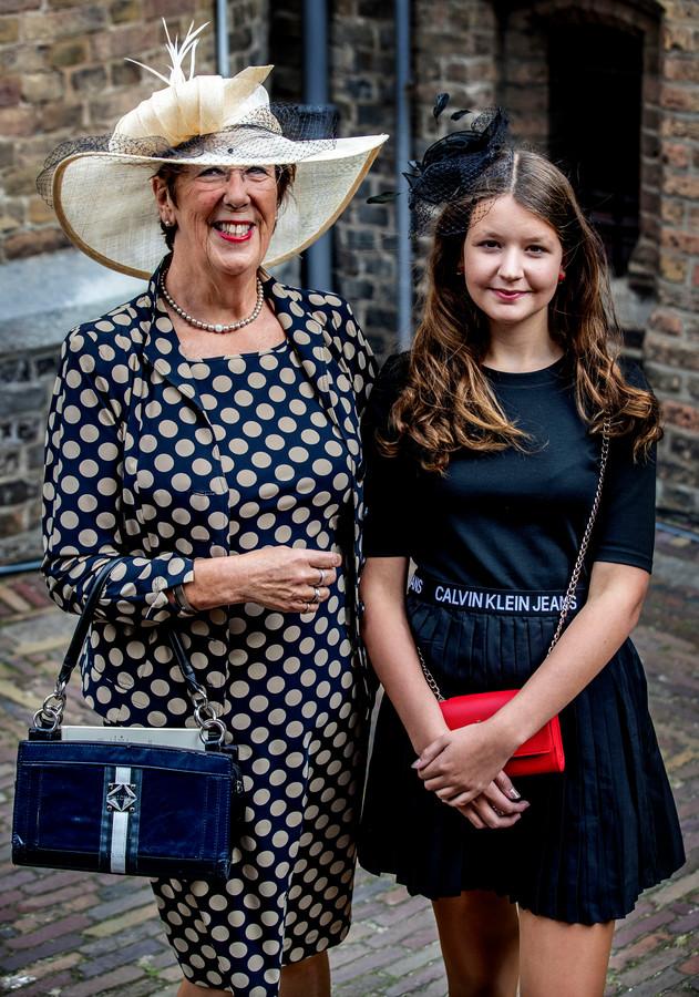 Annemarie Jorritsma met haar kleindochter.