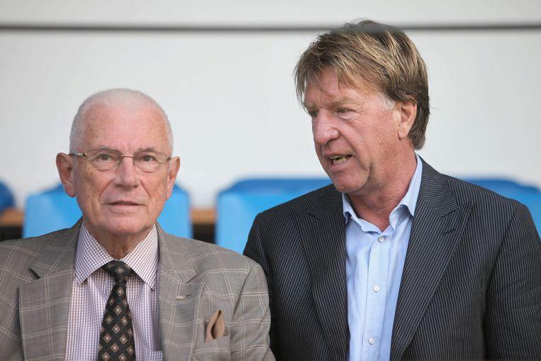 De Mos (rechts) met 'mister' Michel Verschueren.