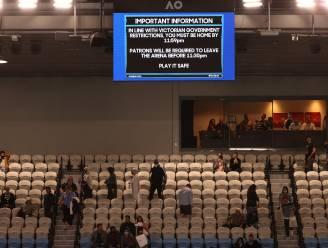 Lockdown vanaf middernacht in Australië? Tennisfans moeten stadion verlaten tijdens wedstrijd Djokovic