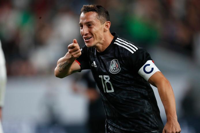 Oud-PSV'er Andres Guardado was met twee goals de gevierde man bij Mexico.