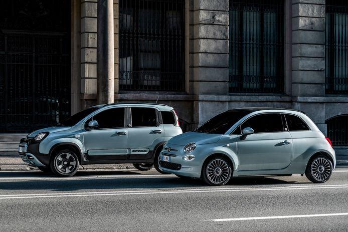 De Fiat 500 Hybrid en Fiat Panda Hybrid: bekende modellen, nieuwe motor.