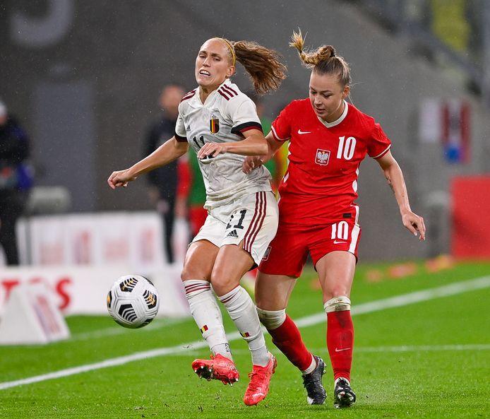 Janice Cayman aux prises avec la Polonaise Weronika Zawistowska