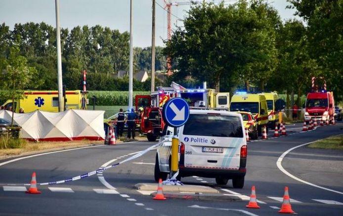 Archiefbeeld van dodelijk ongeval op de N50 in Kortrijk.