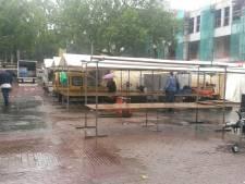 Warenmarkt Utrecht afgebroken vanwege storm