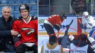 VIDEO. Bezoek José Mourinho aan Russische ijshockeyploeg gaat viraal na onbeholpen smak tegen het ijs