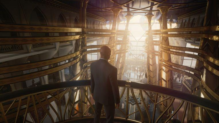 Agent 47 bewondert het uitzicht – zo mooi, hij zou er een moord voor doen om dit thuis te hebben. Beeld IO Interactive